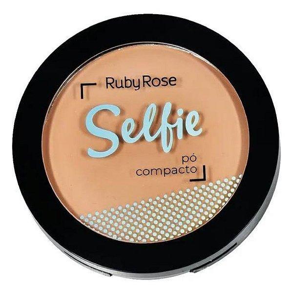 Pó Compacto Facial Selfie Ruby Rose HB-7228 - Bege Claro 02