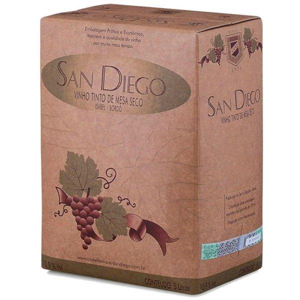 Vinho Tinto de Mesa Seco Bag-in-Box 5L San Diego