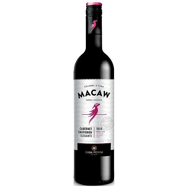 Vinho Tinto Demi-Sec Fino Cabernet Sauvignon 750ml Casa Perini Macaw