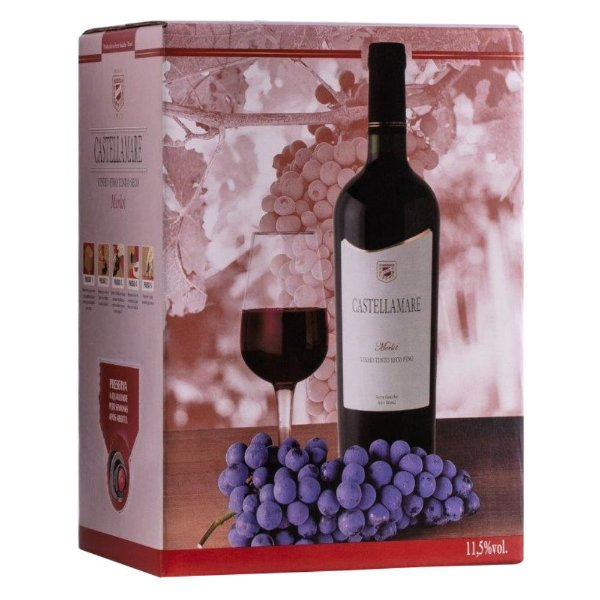 Vinho Merlot Bag-in-Box 3 litros Castellamare