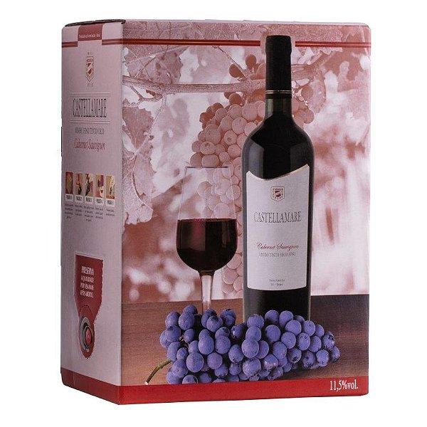 Vinho Cabernet Sauvignon Bag-in-Box 3L Castellamare