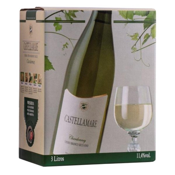 Vinho Chardonnay Bag-in-Box 3L Castellamare