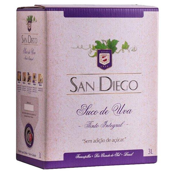 Suco de Uva Tinto Integral Bag-in-Box 3L San Diego