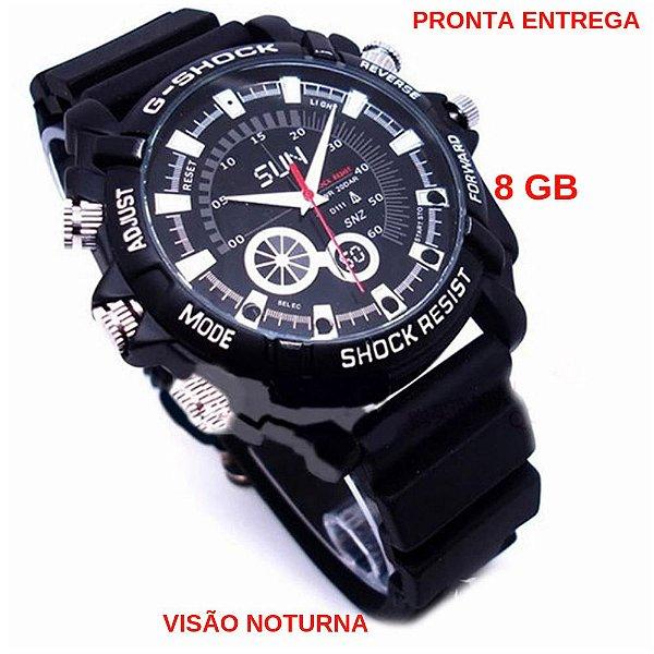 72ff33da696 Relógio Espião Full Hd 8 Gb