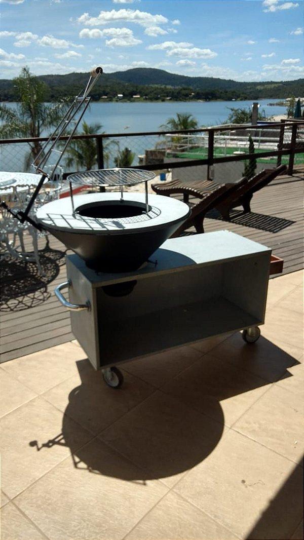 Fire Pit Brasil - Modelo Gourmet Move