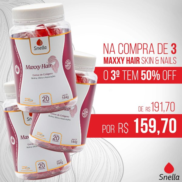 MAXXY HAIR SKIN & NAILS KIT C/ 3 UNIDADES
