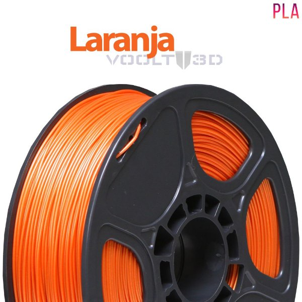 Filamento PLA Laranja 01 (1 kg)