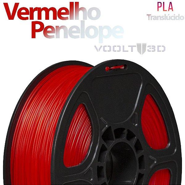 Filamento PLA Vermelho Penélope Translúcido - 1 kg