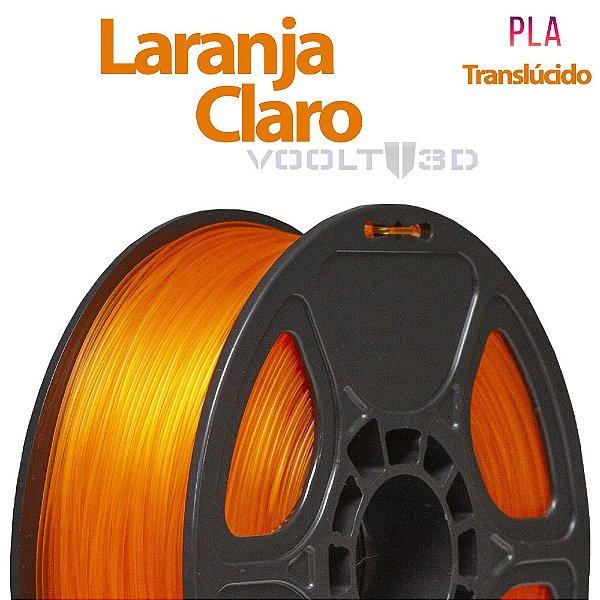 Filamento PLA Laranja Claro Translúcido - 1 kg