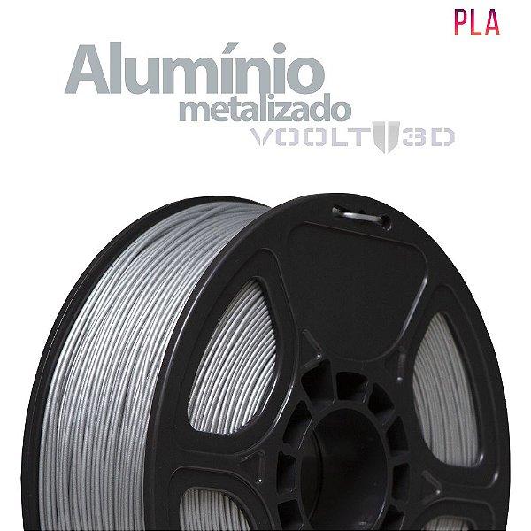 Filamento PLA Alumínio Metalizado - 1 kg