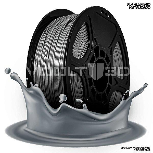Filamento PLA Alumínio Metalizado
