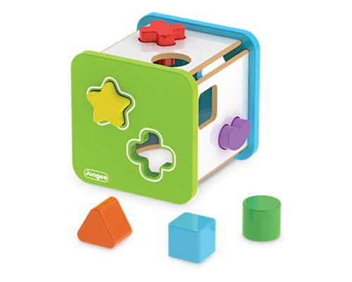 Cubo Didático Com Formas Geométricas