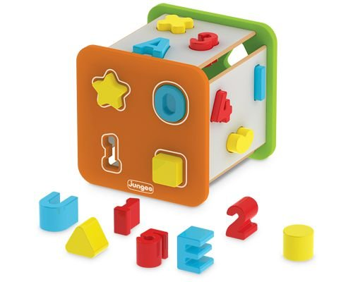 Cubo Didático Com Formas, Letras e Números