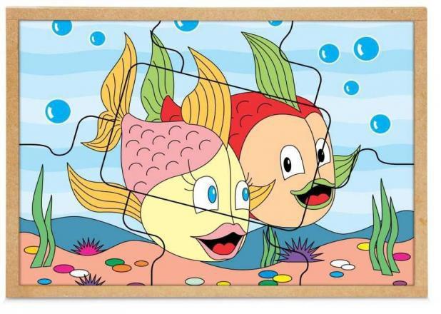 Quebra- cabeça peixes