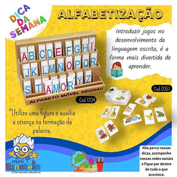 Alfabeto Móvel 130 Pçs Degrau