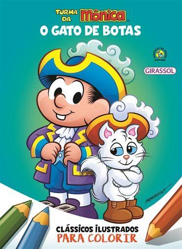 Turma da Mônica Clássicos ilustrados para colorir - O Gato de Botas
