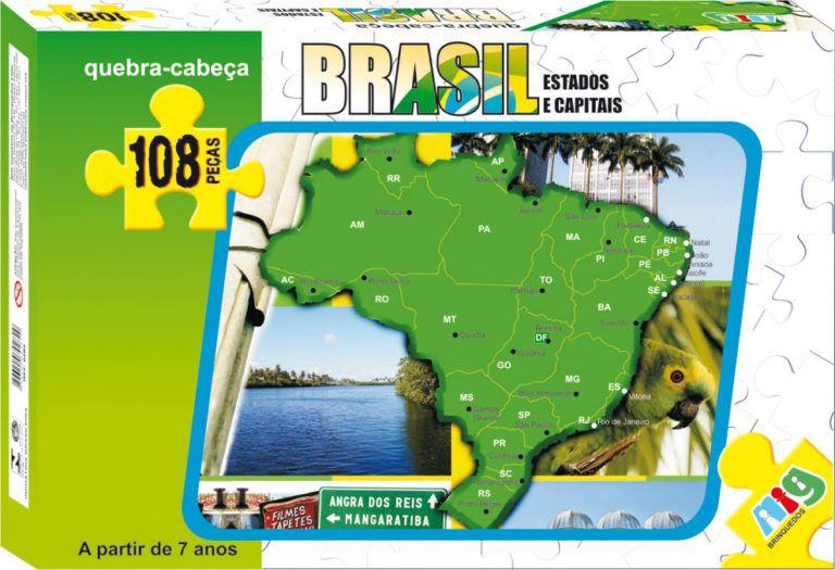 Quebra Cabeça - Mapa do Brasil 108pç