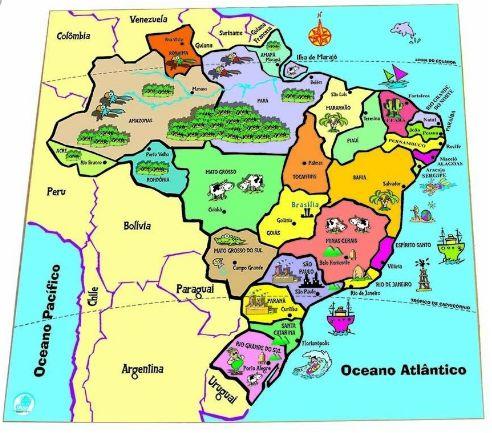 Quebra Cabeça Mapa dos Estados Brasileiros