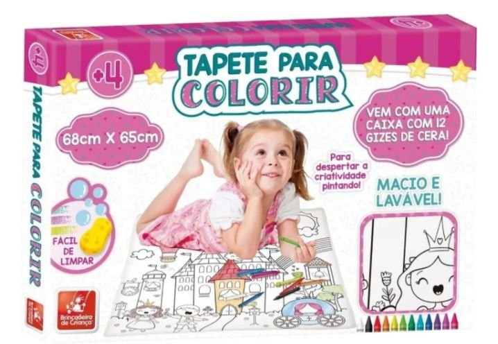 Tapete para colorir - Princesas