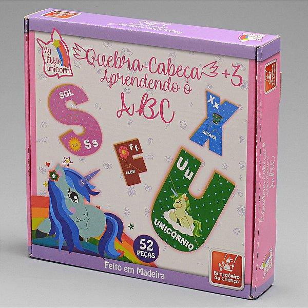 Quebra Cabeça ABC - Unicornio