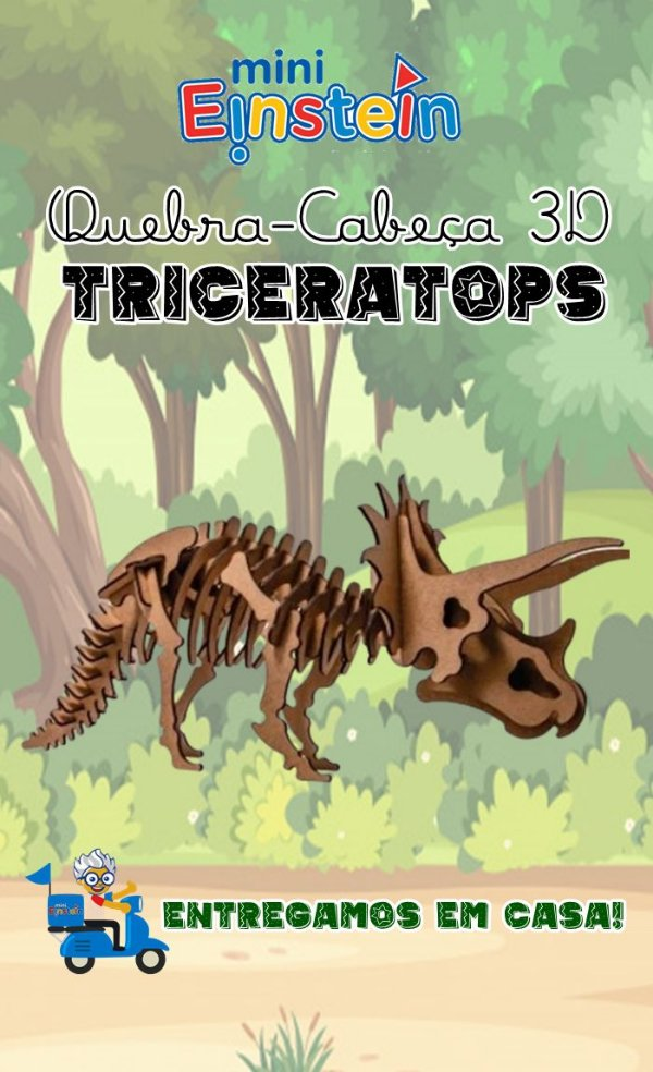 Quebra cabeça 3D Triceratops