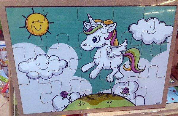 Quebra Cabeça Desenho - Unicornio