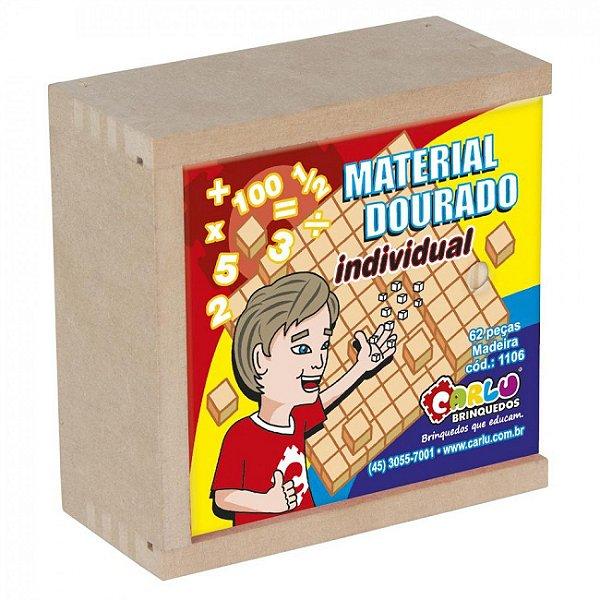 Material Dourado Ind. 62 Peças (Caixa de madeira)