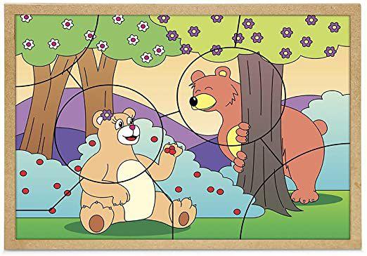 Quebra-cabeça - Casal Urso