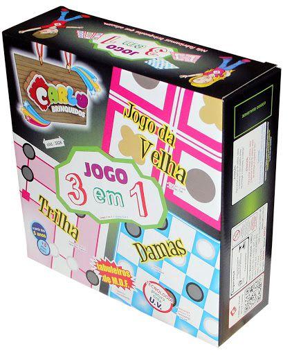 Jogo 3 em 1 ( Caixa de Papel)