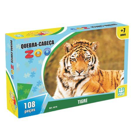 Quebra Cabeça - Zoo Tigre 108pç