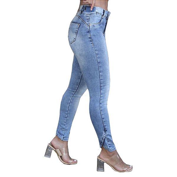calça jeans prs skinny clara detalhe barra