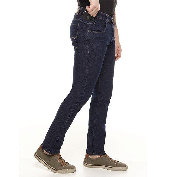 calça jeans prs skinny azul escuro