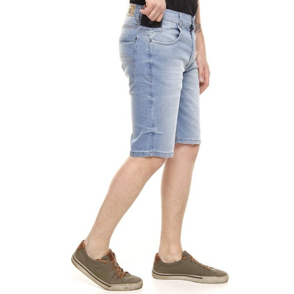 bermuda jeans prs clara com bigode laser