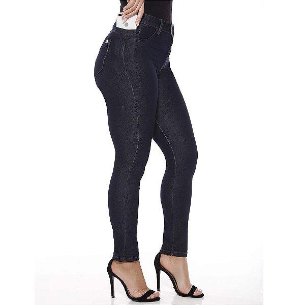 calça jeans prs skinny amaciada botões