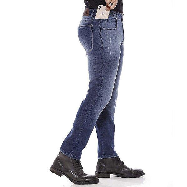 Calça jeans prs comfort bigode laser