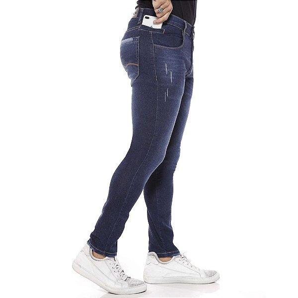 calça jeans prs super skinny escura