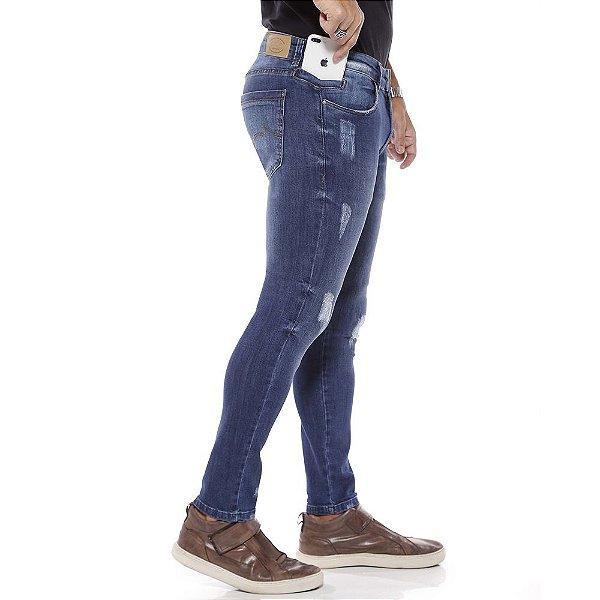 calça jeans prs super skinny ralados