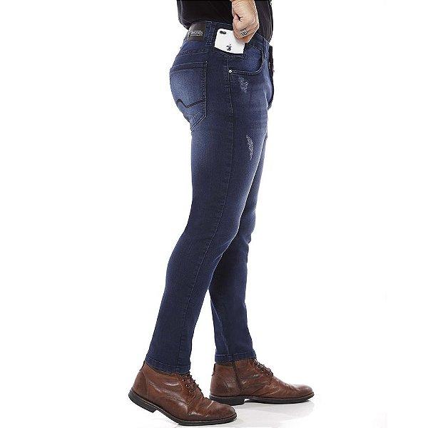 calça jeans prs skinny laser e puídos