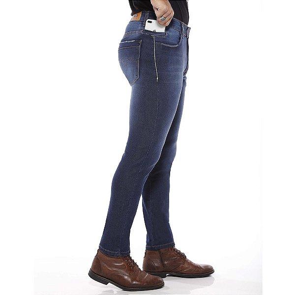 calça jeans prs skinny lisa