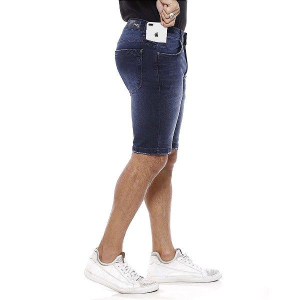 bermuda jeans prs azul escura