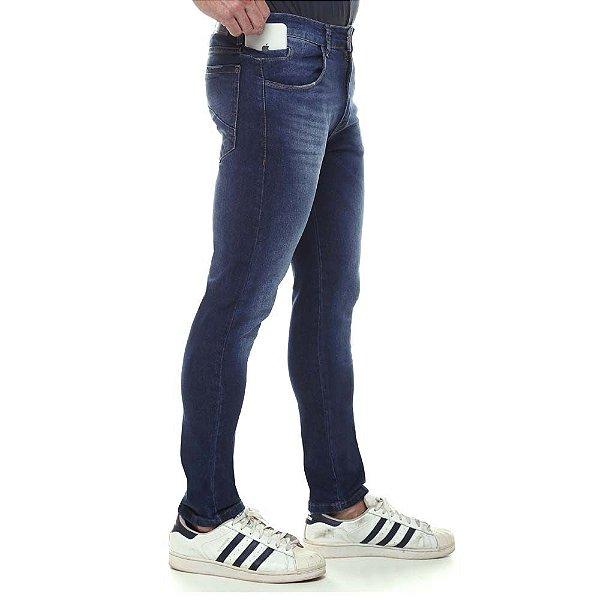 calça jeans prs skinny blue laser