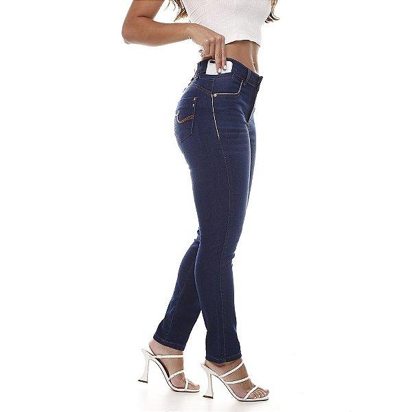 calça jeans prs skinny bordado