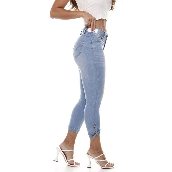 calça jeans prs capri clara