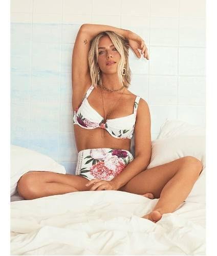 Biquíni New Beach Hot Pant Crochet Dolce Fiori Giovanna Ewba