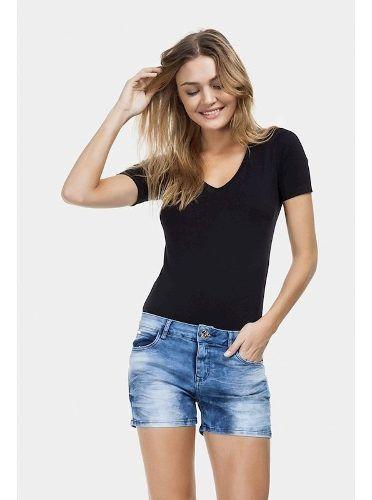 Short Lez A Lez Ibiza Cintura Alta Jeans