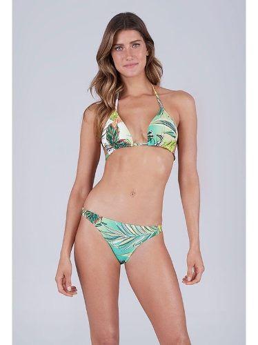 Biquíni New Beach Oceanic Cortininha Maxi Folhagens