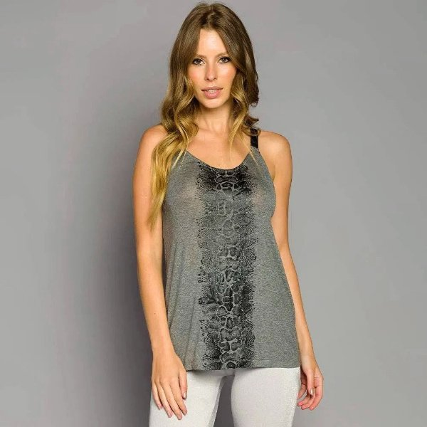 Camiseta De Chelles Silk Detalhe Elastico Metalizado Cinza FT0574BL