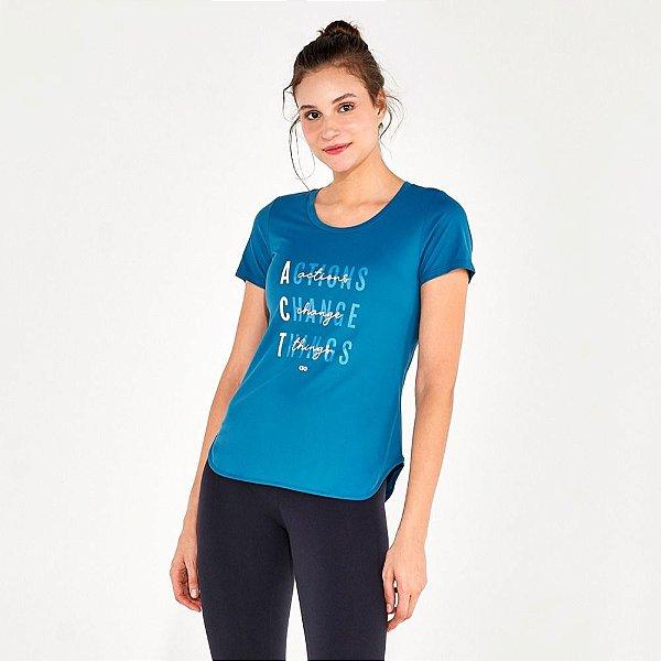 T-Shirt Alto Giro Skin Fit Frases Inspiracionais  2111734