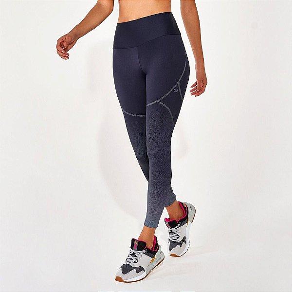 Calça Legging Alto Giro Hyper Graphic Degradê Preto 2112332