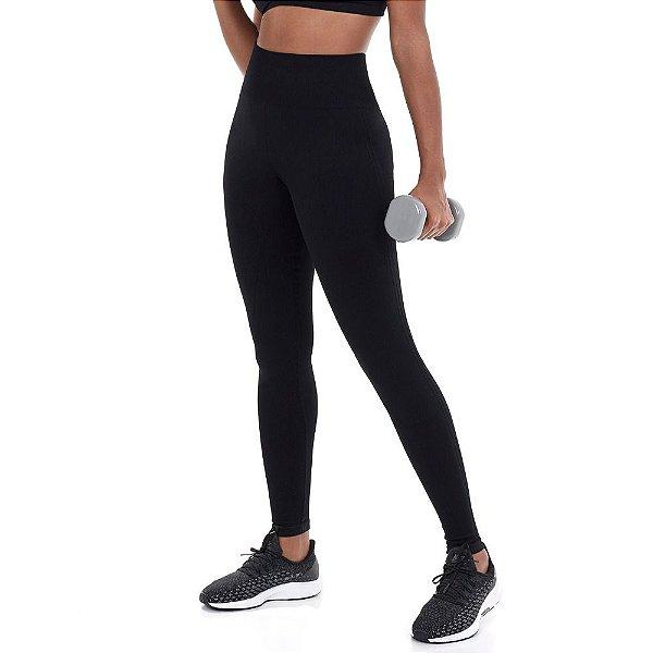 Calça Legging Alto Giro Sem Costura Essential Preto 101311